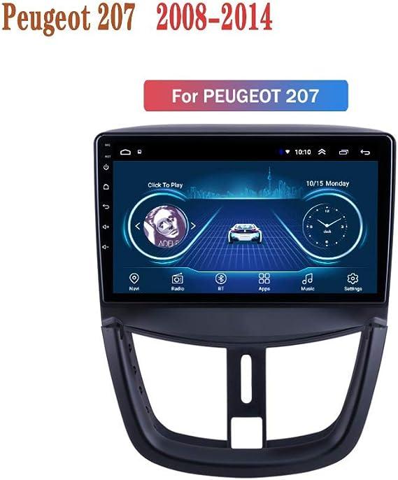 Hahaiyu En Dash Car Stereo Radio 9 Pulgadas MP5 Android 8.1 para Peugeot 207 (2008-2014), GPS 2.5D Pantalla táctil, WiFi, BT, Espejo Enlace, Sintonizador de Radio (2 + 32G): Amazon.es: Electrónica