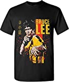 Bruce Lee Short Sleeve Graphic Tee Yellow Jumpsuit Blood T Shirts