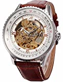 Best Golden Watches - KS Carving Golden Skeleton Auto Mechanical Brown Leather Review
