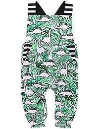d39013c015e1 Toddler Baby Boy Girls Summer Jumpsuit Dinosaur Printed Overalls Sleeveless  Bodysuit One Piece Clothes Set