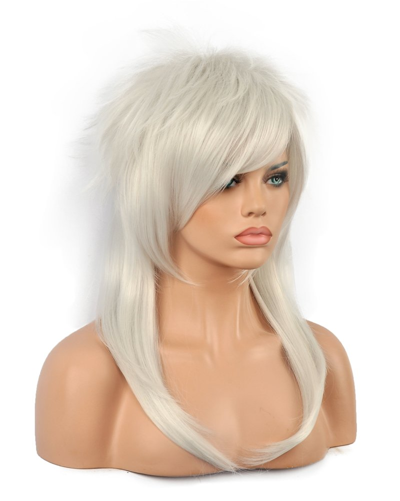 Amazon.com: Diy-Wig Silver Gray Cosplay Anime Synthetic Wigs Halloween Wig: Beauty