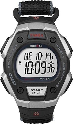 Reloj de Cuarzo T5K826 Classic 30 Lap con LDC, Esfera y Pantalla Digital y Correa Ajustable rápida Negra de Timex Ironman: Amazon.es: Relojes