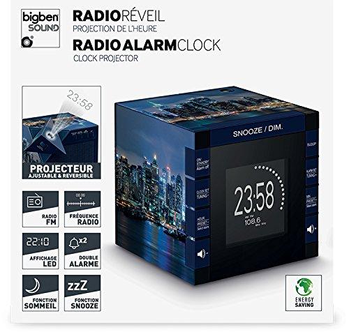 Bigben RR70PNYBYNIGHT - Radio despertador con pantalla de 3