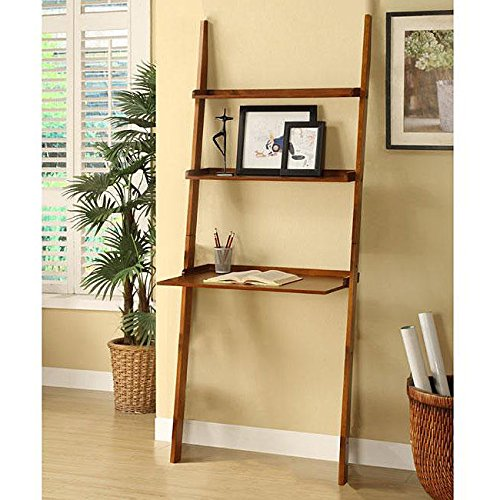 Metro Shop Mahogany 3-tier Leaning Laptop Shelf - Mahogany 3 Tier