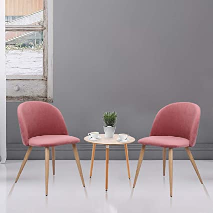 Amazon.com : Veryke Dining Chairs Set of 2, Modern Soft-clad ...