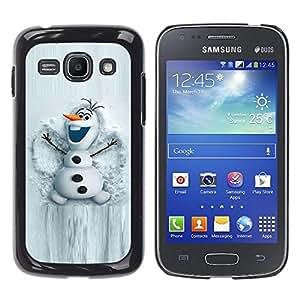 Caucho caso de Shell duro de la cubierta de accesorios de protección BY RAYDREAMMM - Samsung Galaxy Ace 3 GT-S7270 GT-S7275 GT-S7272 - Snowman White Winter Cartoon Character