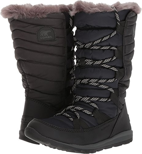 SOREL Womens Whitney Lace Fleece Winter Waterproof Rain Thermal Boots - Black - 8
