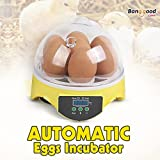 New EU Automatic Eggs Incubator Mini Incubation Equipment Farm 7 Eggs Household Teaching Experiments
