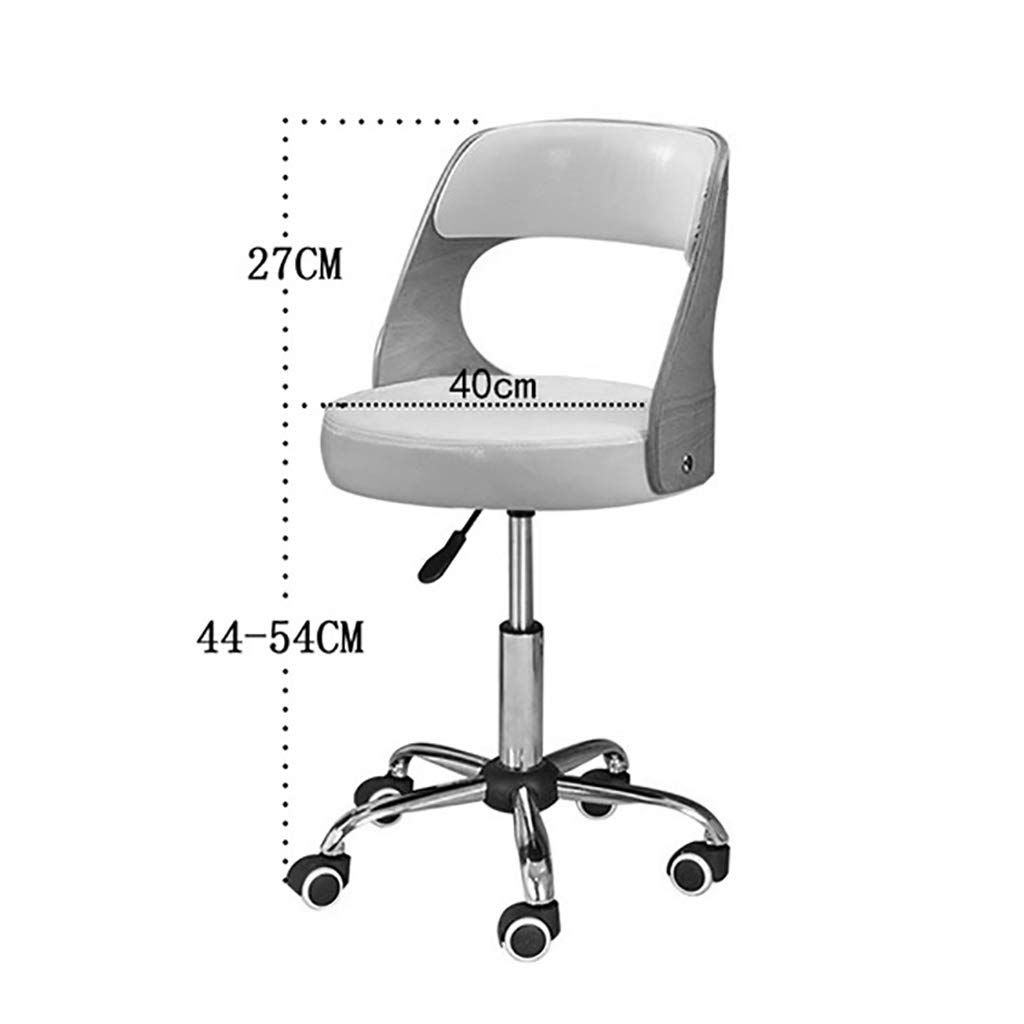 Kontorsstol, vintage retro matsal stil kök kontorsstol modern loungestol med ryggstöd med hjul-4 färger A2 A3
