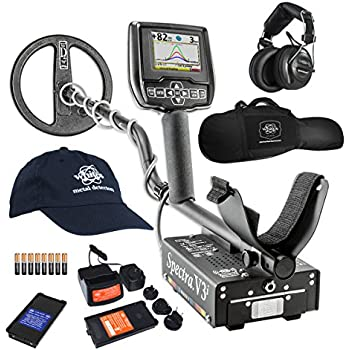 Whites Spectra V3i HP Metal Detector with Padded Gun Style Carry Bag and Baseball Cap - 800-0329-HP