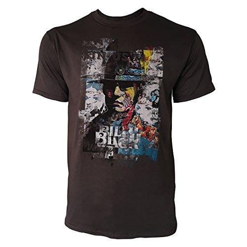 SINUS ART® Billy Herren T-Shirts braunes Cooles Fun Shirt mit tollen Aufdruck