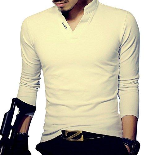 LOGEEYAR Mens Fashion Short-Sleeve Slim Fit Pique Polo Shirt Cotton Summer Clothes Henley T-Shirts ()