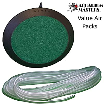 Value Air Packs - Deluxe 4 Inch Round Air Stones With Airline & Air Control Kit Options for Aquariums, Terrariums, and Hydroponics!
