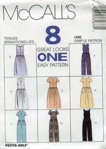 McCall's Pattern 8167 ~ Misses' Dress & Jumpsuit ~ Sizes 8, 10, 12 ()