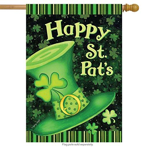 St. Pat's Hat House Flag Holiday St. Patrick's Day Briarwood Lane 28