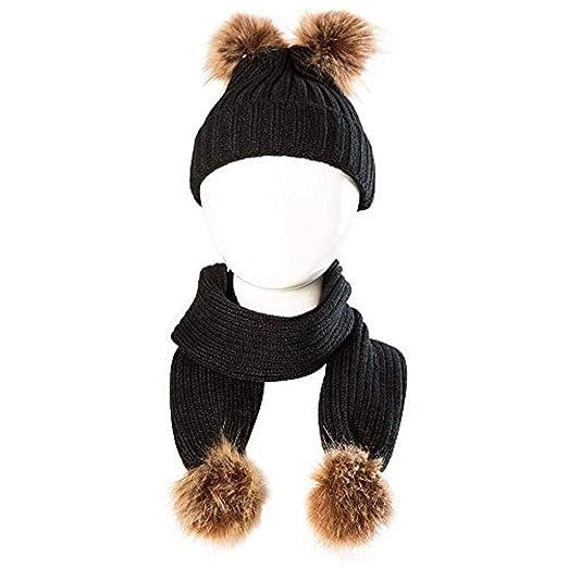 e665efbd8 Amazon.com: ❤ Mealeaf ❤ Toddler Hat and Scarf Set Baby Boys ...