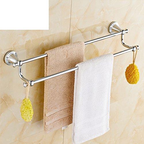 Brass European Style Double Towel Rack Towel Rack With