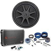 Kicker 44CVX152 Comp VX CVX 15 2000 Watt Car Subwoofer+Mono Amplifier+Amp Kit