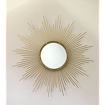 Decorative Starburst Mirror,Bathroom Mirrors Contemporary Metal Wall Hanging Mirror in Sunburst Shape (Drop Mirrors) MD102