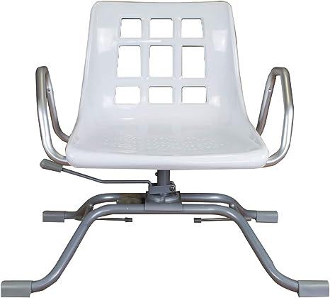 Queraltó Silla Giratoria 360º para Bañera, Comodidad Gracias a su Respaldo y Reposabrazos, Aluminio, 70.5 x 41 x 42 cm: Amazon.es: Salud y cuidado personal