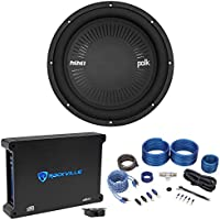 "Polk Audio MM 1242 DVC 12"" 1260w Car Audio Subwoofer Sub+Mono Amplifier+Amp Kit"