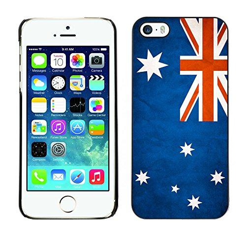 Omega Case PC Polycarbonate Cas Coque Drapeau - Apple iPhone 5 / 5S ( Australia Grunge Flag )