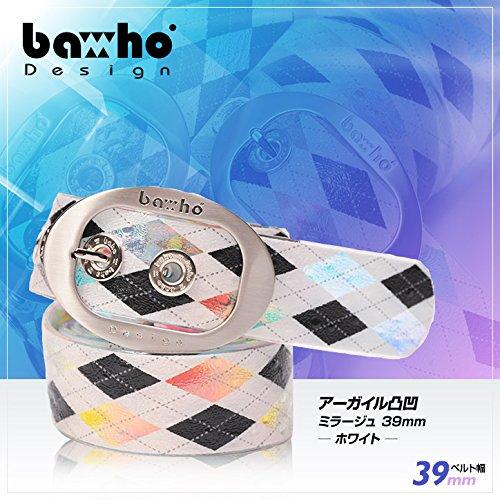 バホ(baho design) グリッターベルト アーガイル凸凹(デコボコ) ホワイト
