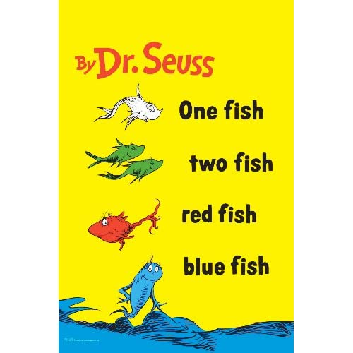 One fish two fish red fish blue fish for One fish two fish red fish blue fish
