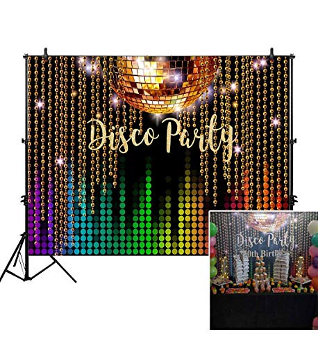(Allenjoy 7x5ft Photography backdrops Disco Neon Adults Party Decoration Decor Birthday Party Event Banner Photo Studio Booth Background)