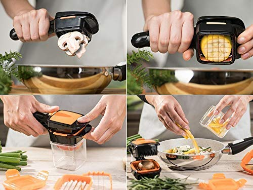 Toriox Multi-Function 5 in 1 Kitchen Gadgets Stainless Steel Vegetable Fruit Shredders Tool Set Cheese-Onion Chopper-Dicer Cutter Kitchen Essential Tools