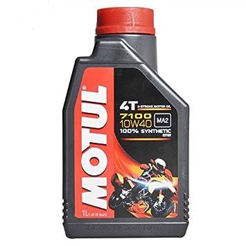 3 Lt L Aceite Motor moto 4T Motul 7100 10 W40 100% sintético New Ester: Amazon.es: Coche y moto