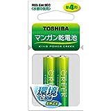 東芝 マンガン電池 黒 単4 (2個入・吊下) R03(EM)2EC