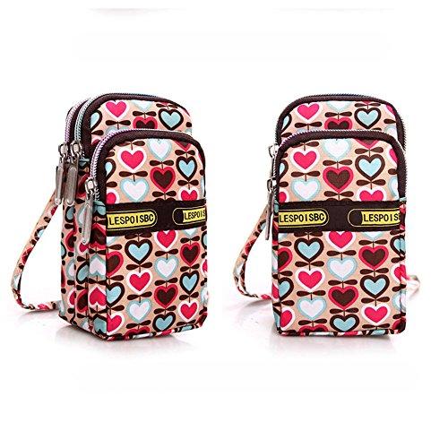 (Respctful✿Women's Fashion Canvas Bag Mini Shoulder Purse Cellphone Pouch Cute Carton Water Crossbody for Women)