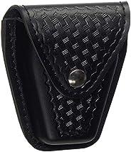 Safariland Duty Gear Flap Top Chrome Snap Basketweave Handcuff Case (Black)
