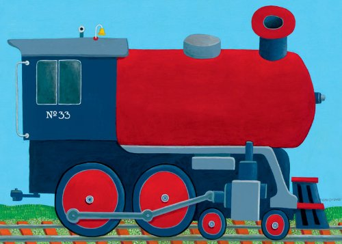 Train Engine Canvas (Oopsy Daisy Train Engine Stretched Canvas Wall Art by Max Grover, 14 by 10-Inch)