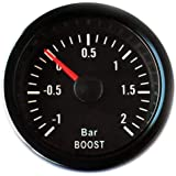 Genuine Turbosmart 52mm Boost PSI gauge Black with white illumination