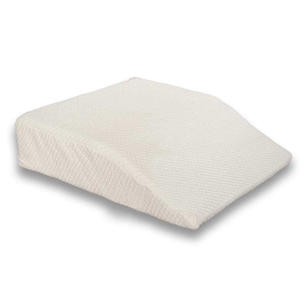 Back Support Systems The Leg Wedge - Memory Foam - Reduces Swelling - Improves Circulation - Post Surgery Leg Rest Pillow - Best for Hip, Knees, Feet and Ankles (6'' Elevator) by Back Support Systems