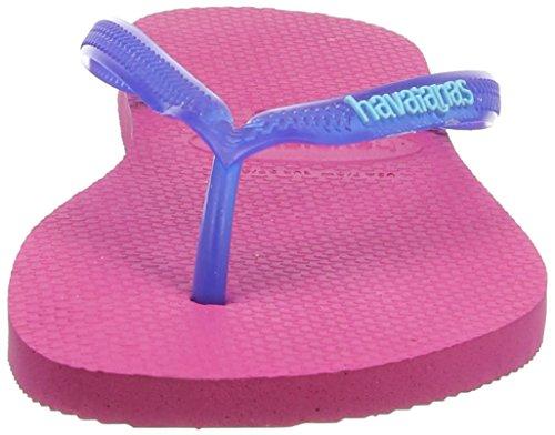Havaianas Slim Logo, Chanclas para mujer rosa - Pink (Orchid Rose / 2655)