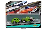 Maisto New 1:64 Tow & GO Collection - Green 1936 Chevrolet Pickup / Traveler Trailer Diecast Model Car