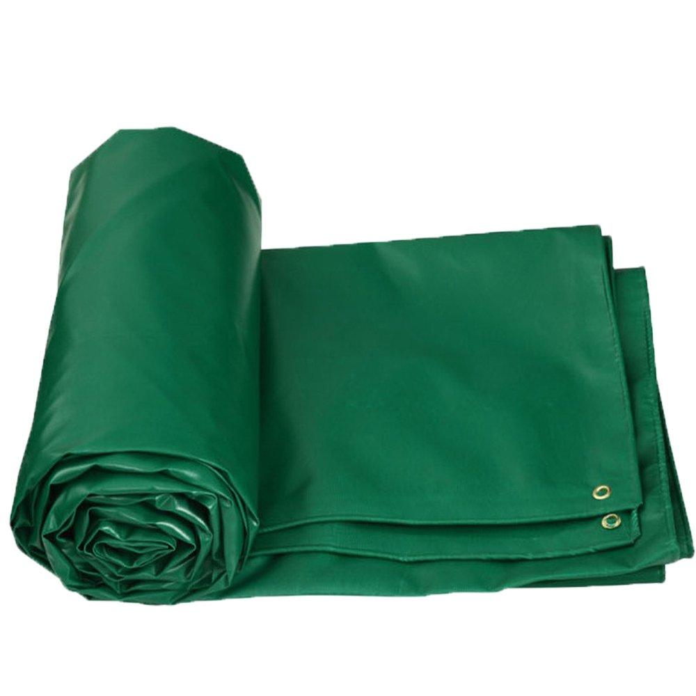 Hyzb Starke Plane doppelseitiges wasserdichtes Lager-Dach-Abdeckungs-Tuch (Farbe   Grün, größe   6M5M)