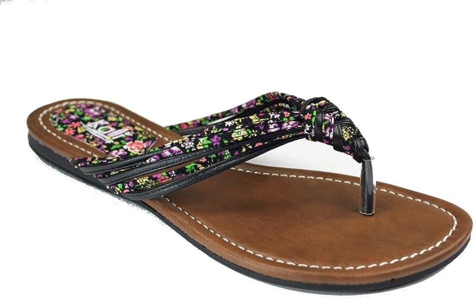 82dd3dff47d901 Kali Footwear Women Link Braided Rope Floral Flip Flops 10