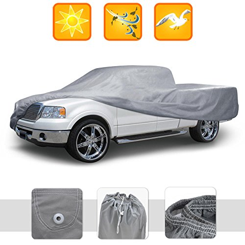 BDK Truck Cover For Toyota Tundra , Full Size Crew Cab - No Scratch Lining , Water Resistant