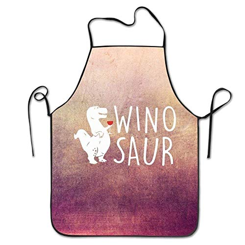 ssribeautyk Wino Saur Wine Kitchen Personalised Cooking Apron ()