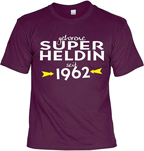 T-Shirt - Geborene Superheldin Seit 1962 - lustiges Sprüche Shirt als Geschenk zum 55. Geburtstag