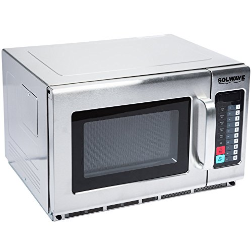 Microwave Special Offer Stainless Steel Commercial Microwave with Push Button Control - 208/240V, 1800W Now on Sale Price for a limited time only (Stainless Steel, 1.2 cu. ft 1800W) -  Sol-Wave