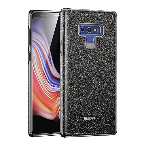 ESR Case Compatible for Samsung Galaxy Note 9, Glitter Sparkle Bling Case Protective Cover [Three Layer] [Supports Wireless Charging] for Galaxy Note 9 6.4 inch, Purple(Released in 2018)