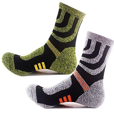 Sakya Men's High Performance Moisture Wicking Hiking & Trekking Socks 2 Pairs (Assorted 2 Pairs)