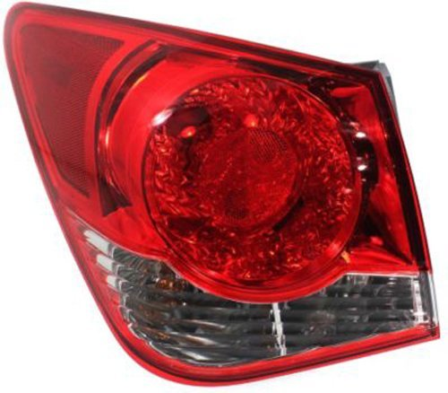 (Crash Parts Plus Driver Left Side Tail Light Tail Lamp for 11-14 Chevrolet Cruze)