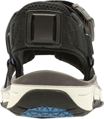 Nubuck Clarks Part Sandals Men's Leather Black Explore SqHwaxUqO