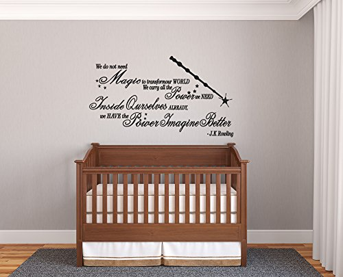 Joanne Rowling Quote Harry Potter Phrase Cute Decor Nursery Living Room Bedroom Wall Decal Sticker Vinyl (26x15(Small))